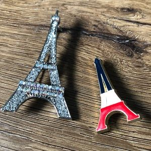 Lovely Vintage Eiffel Tower Brooches-2